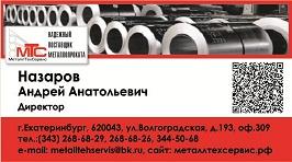 Визитная карточка Директора МеталлТехСервис