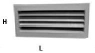Решетки вентиляционные однорядные РВ1