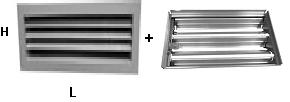 Решетки с регулятором расхода воздуха РВР1