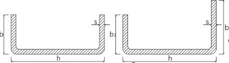 Швеллер стальной гнутый равнополочный и неравнополочный